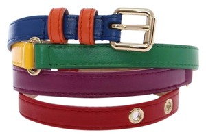 Dolce&Gabbana D10037-1 Women's Multicolor Leather Logo Belt