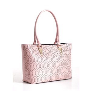 Bravo Handbags Leather Tote in Pink