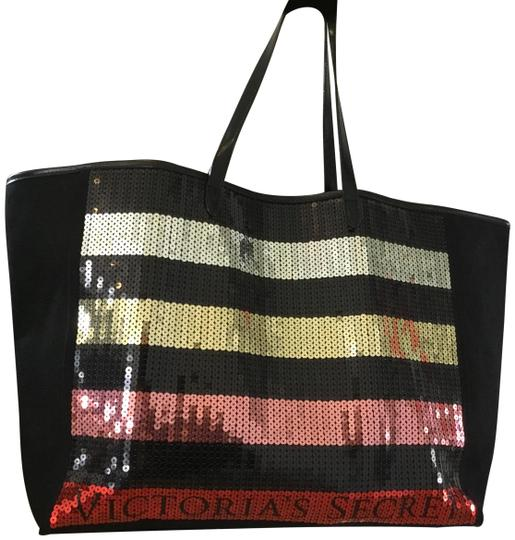Preload https://img-static.tradesy.com/item/24045802/victoria-s-secret-sequence-black-pink-gold-and-silver-canvas-tote-0-1-540-540.jpg