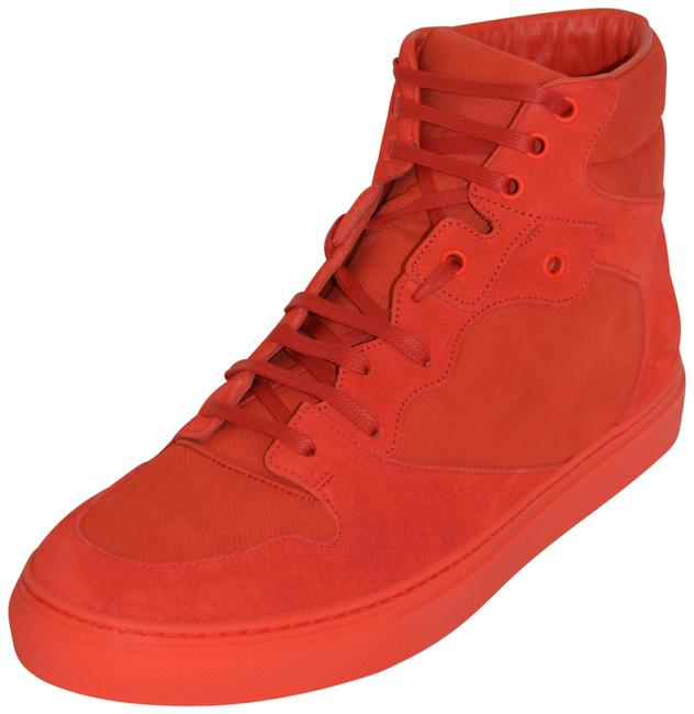 Balenciaga Red New Hitop Suede Leather Eu 42 Mens Sneakers Size US 9 Regular (M, B) Balenciaga Red New Hitop Suede Leather Eu 42 Mens Sneakers Size US 9 Regular (M, B) Image 1