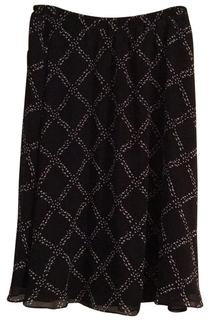 Item - Black with Cream Accents Wpl 8046 Skirt Size Petite 12 (L)