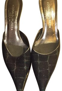 Donald J. Pliner Black Multi Mules