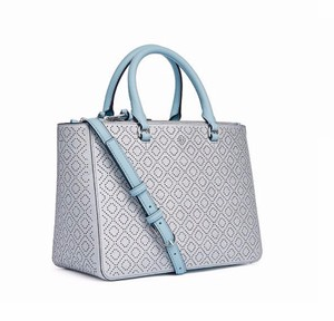 Tory Burch Satchel in Soft Silver