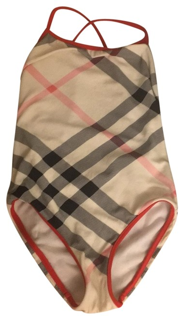 Item - Red Girl 6 Yr Old One-piece Bathing Suit Size Petite 0 (XXS)