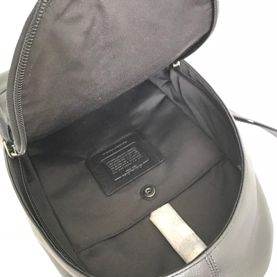 ab42fb684375 Coach Men s Charles Pack with Varsity Stripe Nvy Black-antique-nickel Leather  Backpack - Tradesy