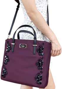 0ade25d4b210 Kate Spade Cross Body Bag. Kate Spade Wilson Road Embellished Alyse Satchel  Tote Deep Plum ...