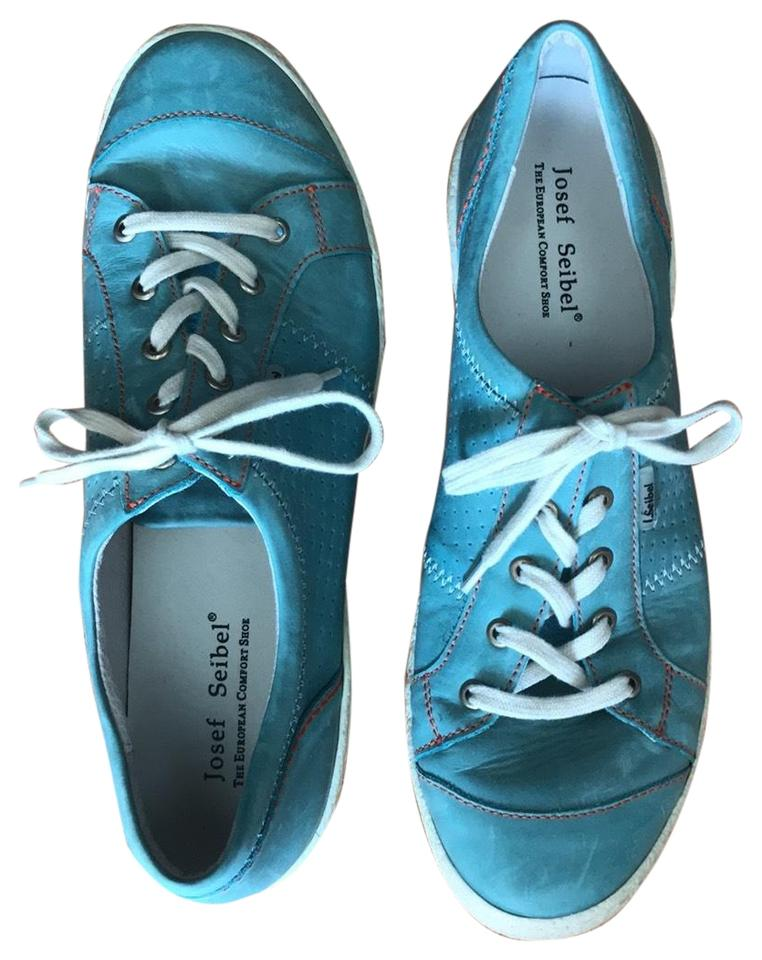 new product 350c3 48ebf Blue Caspian Leather Sneakers