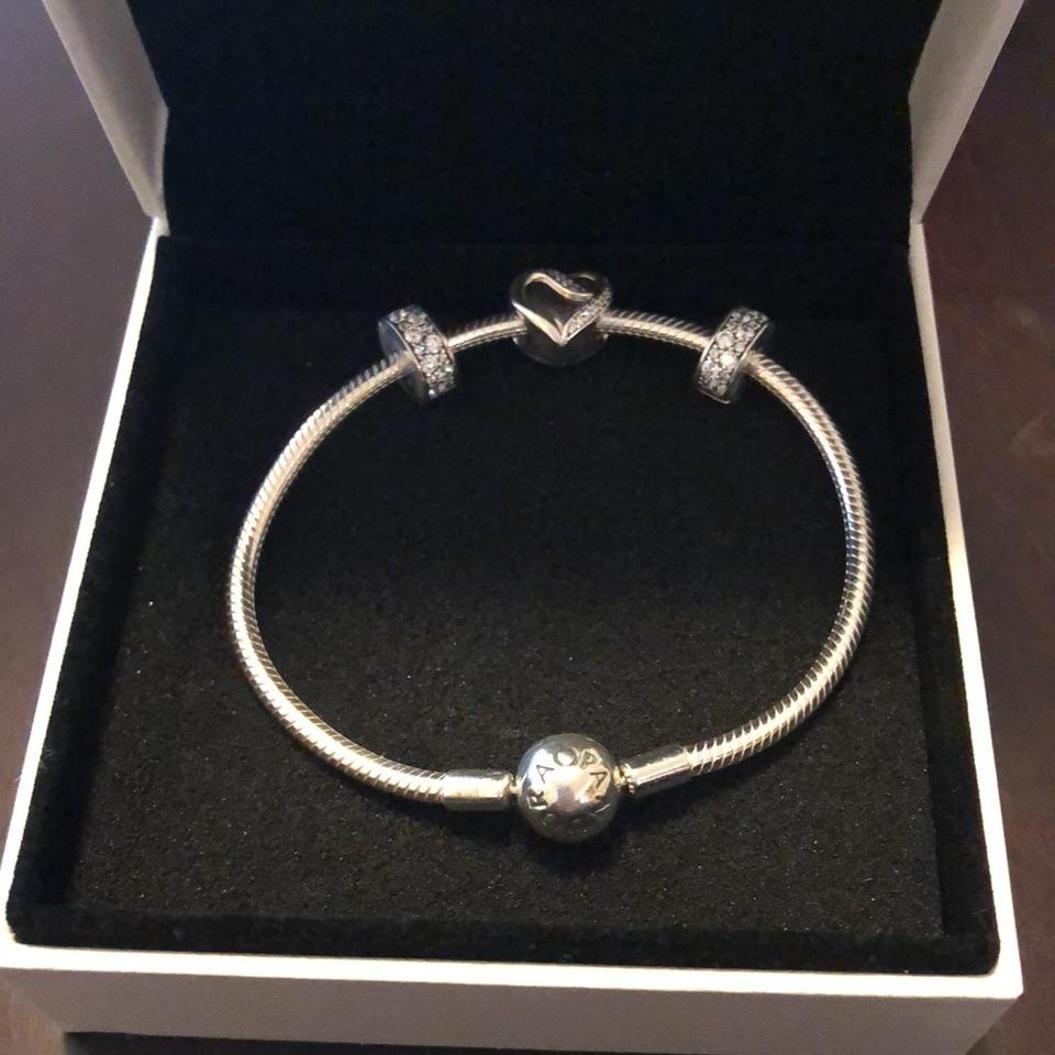 e8bee96f5 PANDORA Silver & Cubic Zirconia With Ribbons Of Love Charm and 2 ...