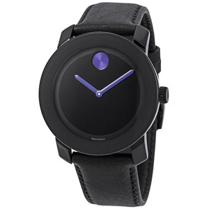 Movado Bold Purple Accents Ladies Leather Watch