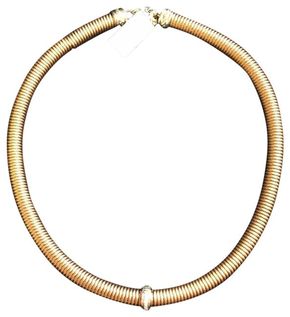 Item - Rose Gold Diamond Coiled Station Stainless Choker Necklace