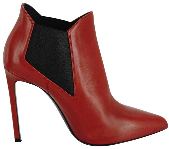Item - Red Leather Paris 80 Heel Chelsea High Heel Stretch Ankle Boots/Booties Size EU 36 (Approx. US 6) Regular (M, B)