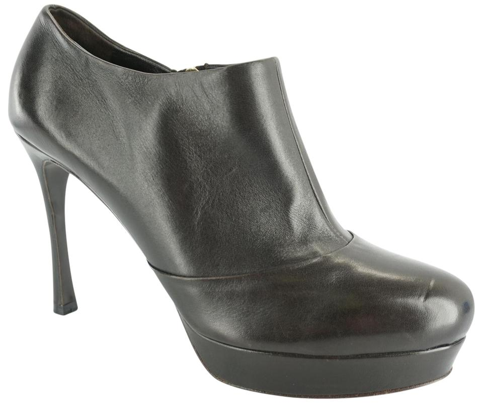 39f907a3 Saint Laurent Brown Tribute Leather Classic Platfrom High Heel Ankle  Boots/Booties Size EU 41 (Approx. US 11) Regular (M, B) 59% off retail