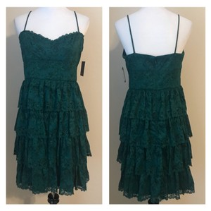 Marina Ruffled Lace Dress