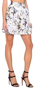 Elizabeth and James Women Mini Skirt White Blue