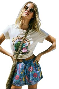 Spell & the Gypsy Collective Women Tops T Shirt Cream
