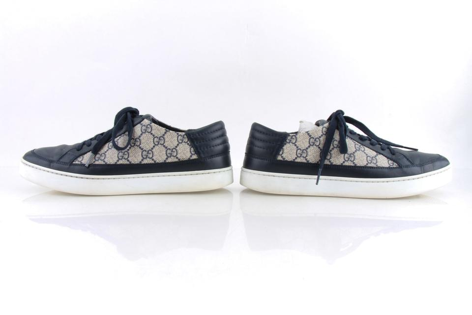 daf286737ab Gucci Blue Gg Supreme Canvas Navy Trim Sneakers Shoes Image 11.  123456789101112
