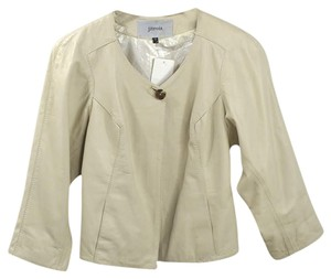 Jean Claude Jitrois Sheepskin Metallic Fall Winter IVORY Leather Jacket