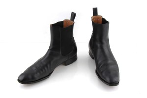 Gucci Black Leather Chelsea Boot Shoes