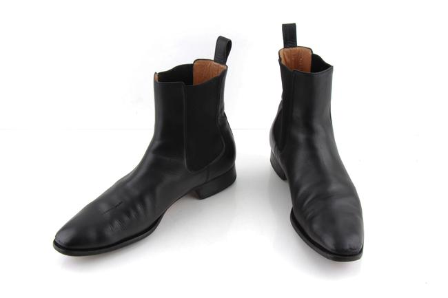 Item - Black Leather Chelsea Boot Shoes