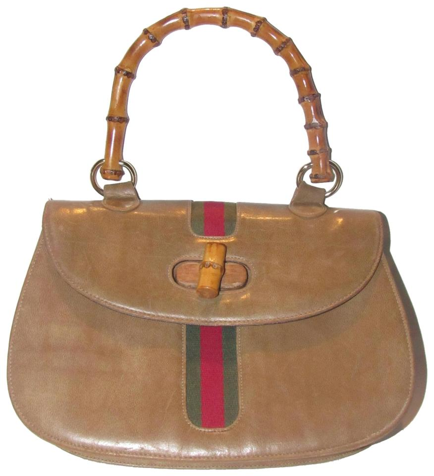 Meyers Mint Vintage Accents 1960 s Gucci Look Vintage Red Green Accent  Satchel in camel colored ... ea0eec315c092
