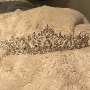 David's Bridal Silver Crystal Crown Hair Accessory