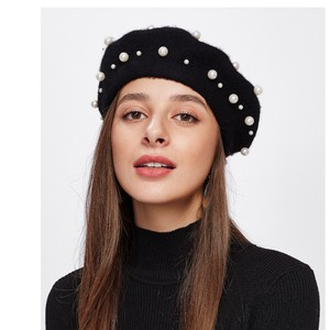 SheIn Faux Pearl Beret Hat