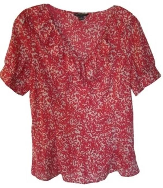 Preload https://item4.tradesy.com/images/banana-republic-red-and-off-white-silk-v-neck-blouse-size-8-m-24048-0-0.jpg?width=400&height=650