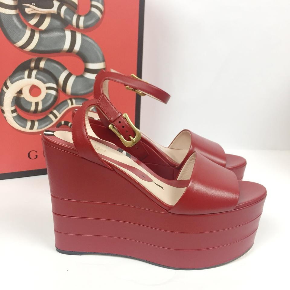 39d54a55751b Gucci Red New Leather Platforms (Sz  39) Wedges Size EU 39 (Approx. US 9)  Regular (M