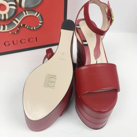 acc636a59e65 Gucci Red New Leather Platforms (Sz  39) Wedges Size EU 39 (Approx ...