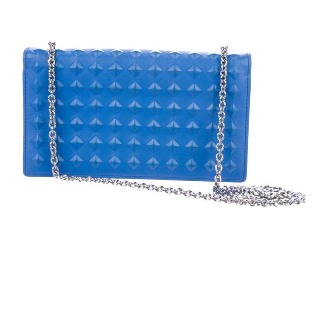 MCM Wallet on Chain Blue Clutch MCM Wallet on Chain Blue Clutch Image 1