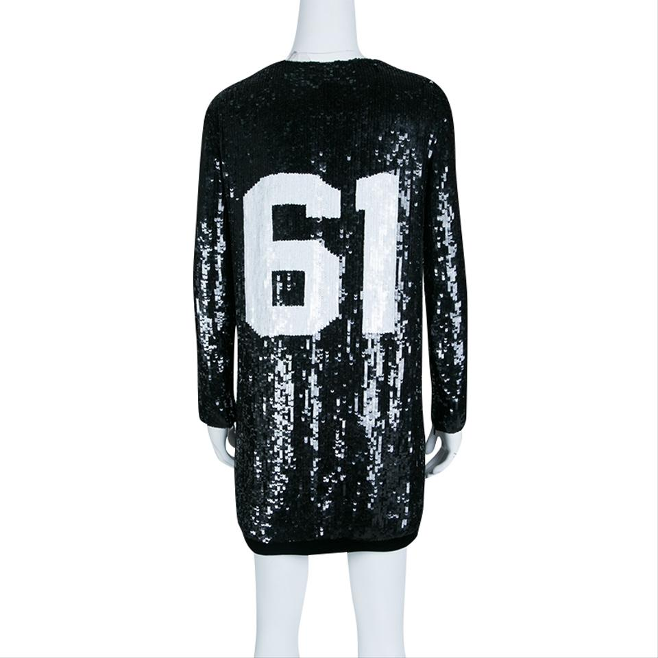 d71cdec5 Tom Ford Black Sequin Embellished Molly Football Jersey Shift Short Casual  Dress Size 4 (S) - Tradesy