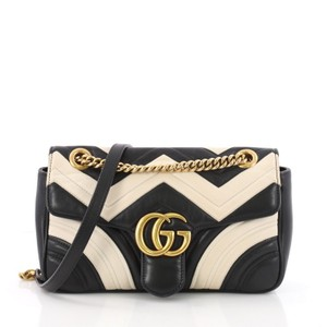 57ef75fa7c6 Gucci Gg Marmont Leather Shoulder Bag. Gucci Flap Marmont Gg Matelasse  Small Black ...