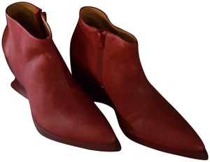 John Fluevog Eclectic Leather Edgy Festival Red Boots