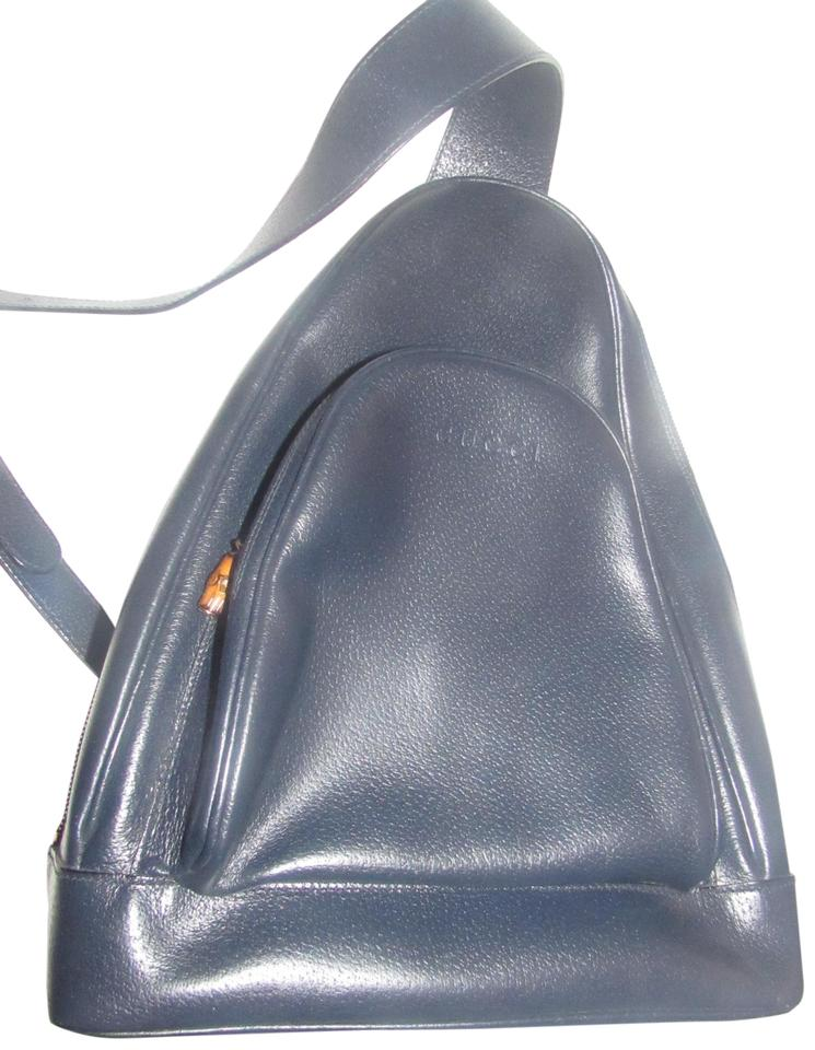 e654314e88a5 Gucci Multiple Compartment Bamboo Accents Restored Lining Excellent Vintage  Backpack Image 0 ...