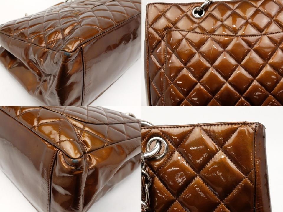 2d9dbfff4d81 Chanel Shopping Tote Bronze Copper Quilted Chain Grand Gst 231199 ...