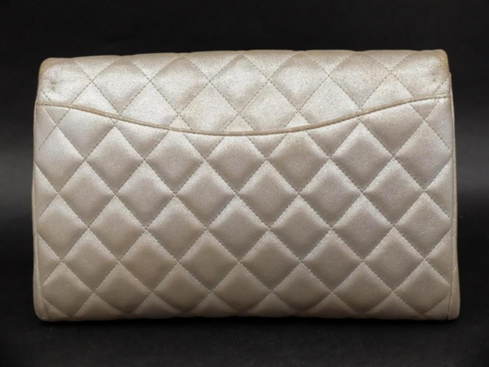 decc5a638d95 Chanel Classic Flap Quilted Jumbo Maxi Wallet On Chain Shoulder Bag.  123456789101112