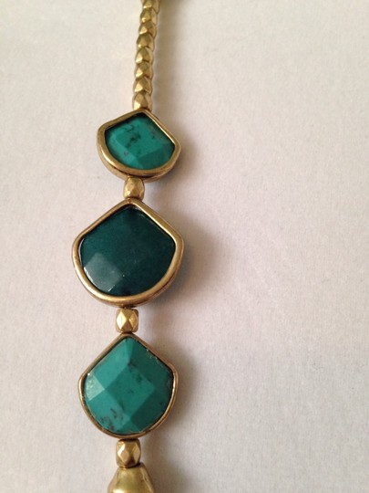 Lucky Brand Faceted Turquoise & Teal Stone In Gold-Tone Necklace Image 1
