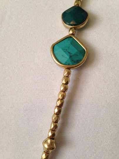 Lucky Brand Faceted Turquoise & Teal Stone In Gold-Tone Necklace Image 2