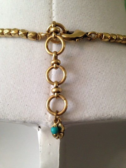 Lucky Brand Faceted Turquoise & Teal Stone In Gold-Tone Necklace Image 3