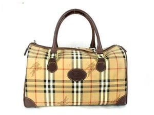 Burberry Boston Duffle Gym Weekend Novacheck Satchel in Brown