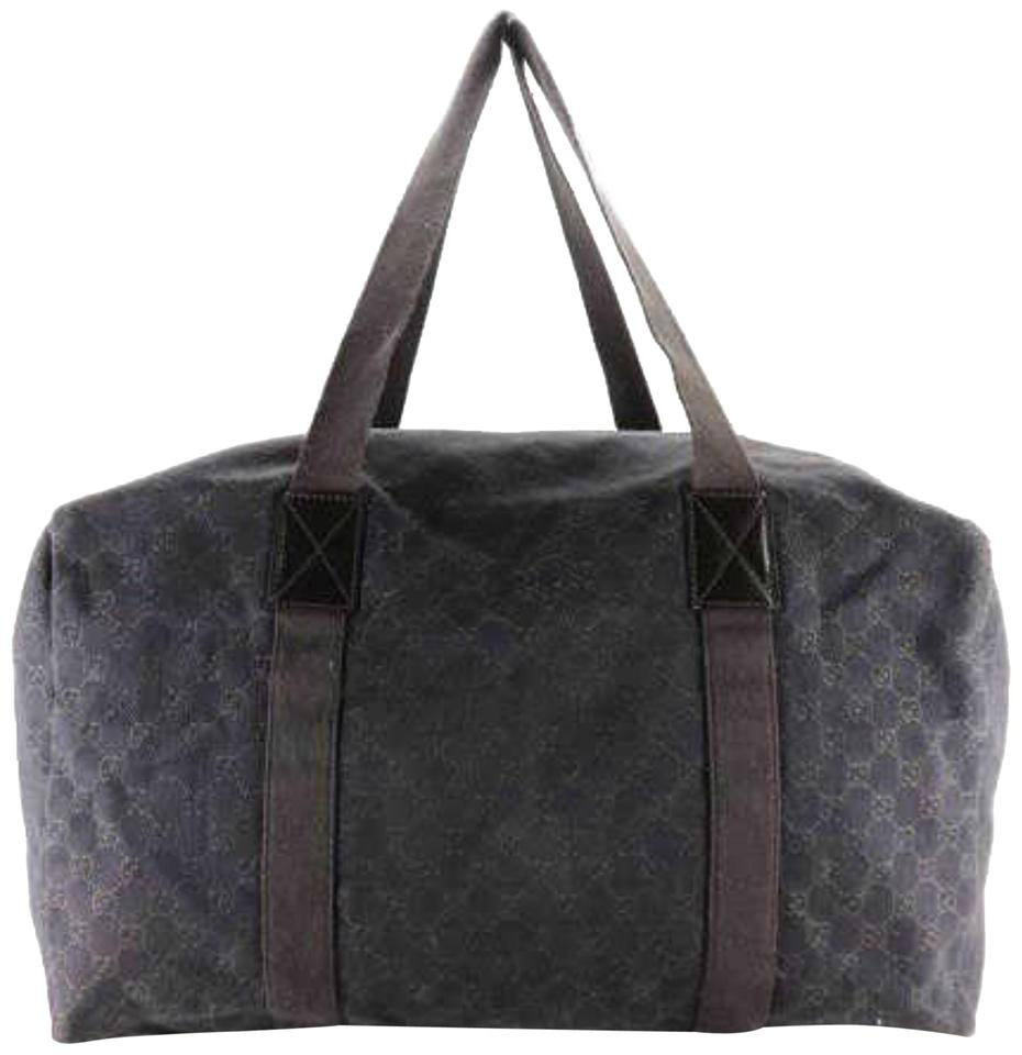 71269f7d9708 Gucci Boston Extra Large Chocolate Signature Monogram Duffle 231113 ...