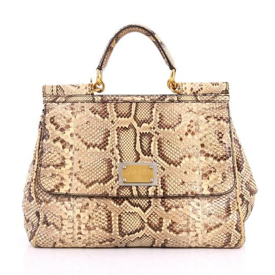 Preload https://item5.tradesy.com/images/dolce-and-gabbana-miss-sicily-large-tan-python-skin-leather-satchel-24049369-0-0.jpg?width=440&height=440