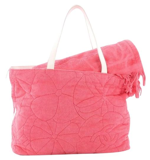Preload https://item4.tradesy.com/images/chanel-beach-camellia-large-pink-terry-cloth-tote-24049388-0-1.jpg?width=440&height=440