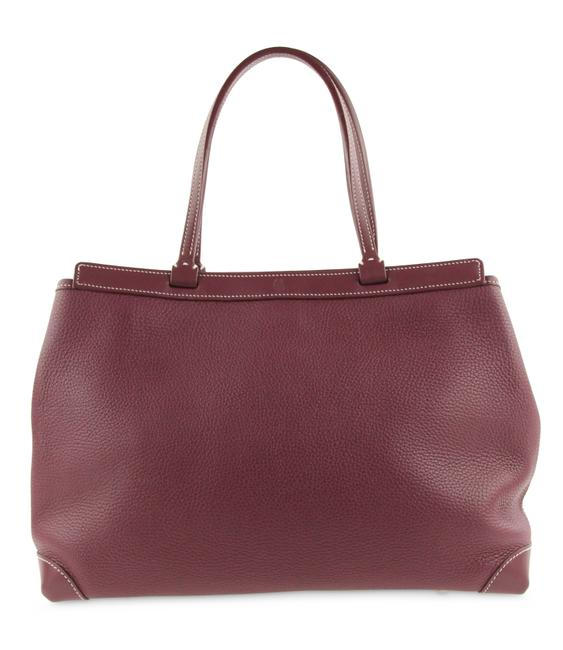 Item - Bellechasse Pm Burgundy with Purple Undertone Leather Tote