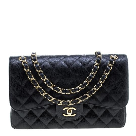 Preload https://item3.tradesy.com/images/chanel-classic-flap-quilted-jumbo-classic-double-black-leather-shoulder-bag-24049442-0-0.jpg?width=440&height=440