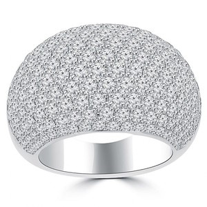 Madina Jewelry White 5.25 Ct Ladies Round Cut Diamond Anniversary Ring