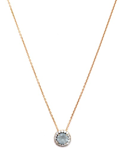 Preload https://item4.tradesy.com/images/rose-gold-chain-aquamarine-and-diamond-pendant-necklace-24049518-0-1.jpg?width=440&height=440