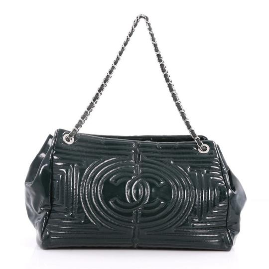 Preload https://item1.tradesy.com/images/chanel-coco-ming-chain-quilted-medium-green-pvc-tote-24049525-0-0.jpg?width=440&height=440