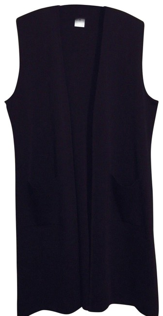 Preload https://item5.tradesy.com/images/black-women-s-duster-vest-m-acrylic-knit-sleevel-cardigan-size-10-m-24049534-0-1.jpg?width=400&height=650