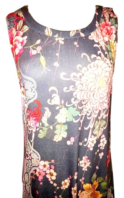 Multi Maxi Dress by Johnny Was A Line Slip On Styling Doesn't Wrinkle Stretchy Super Flattering